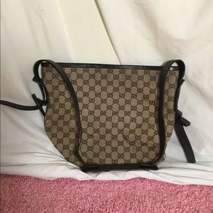 E3) women's lightly used brown&tan Gucci bag